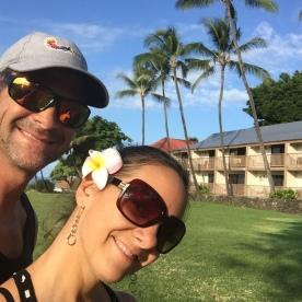 La fleur d'hawaii. Le pluméria! J'adore! Couple heureux!!